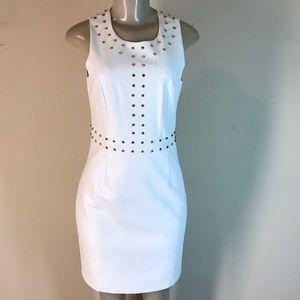 Julie Brown NYC Lori Vegan Leather Dress White 2